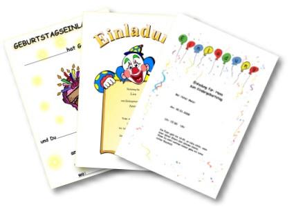 Einladungen und Einladungsvorlagen